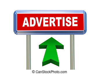 3d arrow road sign - advertise