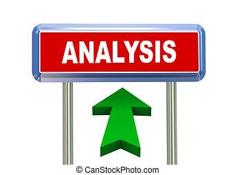 3d arrow road sign - analysis