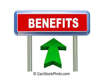 3d arrow road sign - benefits