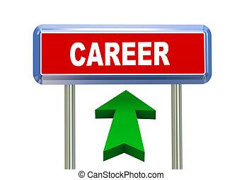 3d arrow road sign - career
