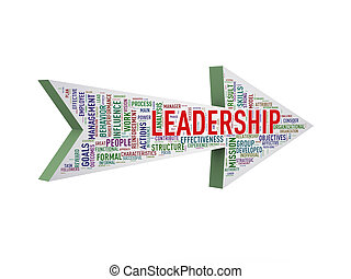 3d arrow shape wordtag wordcloud leadership