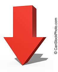 3D Arrow Sign - A 3d arrow sign isolated against a white...