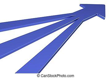 3D Arrows - 3 in 1 - Blue