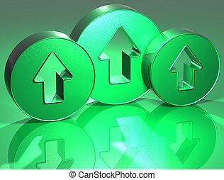 3D Arrows Green Sign