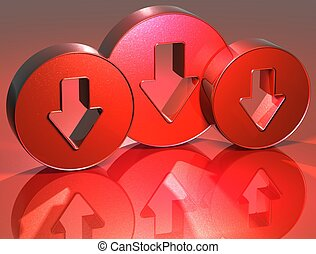 3D Arrows Red Sign