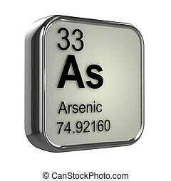 3d Arsenic element - 3d render of Arsenic element design