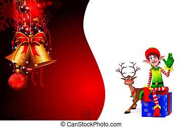 elves with reindeer