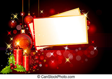 dark red background with candles