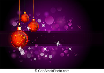 purple background with red ball