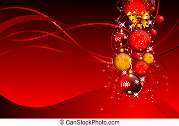 red background with balls