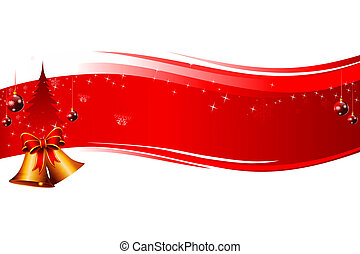 red background with jingle bell