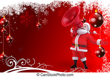 santa with red background