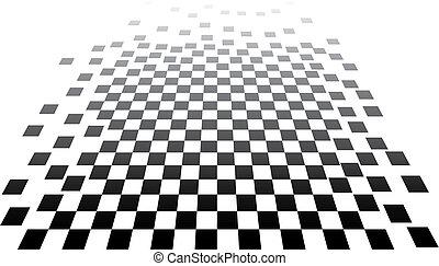 3d, arte, xadrez, op
