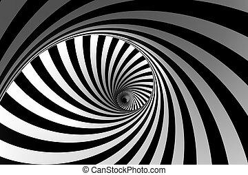 3d, astratto, spirale