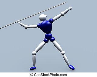 Javelin Thrower - 3d Athlete Javelin Thrower