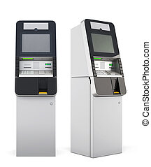 3d ATM machine.