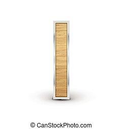 3d attractive wooden alphabet I