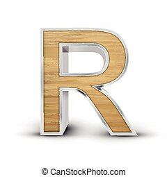 3d attractive wooden alphabet R