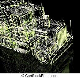 3d automobile - 3d automobile