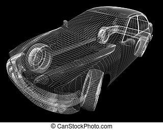 3d, automobile