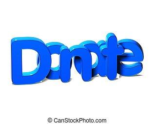 3d, azul, palabra, donar, blanco, plano de fondo