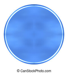 3D Azure Circular Button