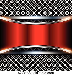3D background red