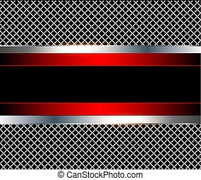 3D background red metalic