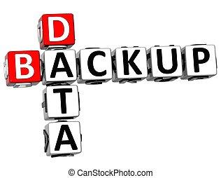 3D Backup Data Crossword