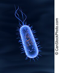 3d bacterium - 3d rendered close up of an isolated bacterium