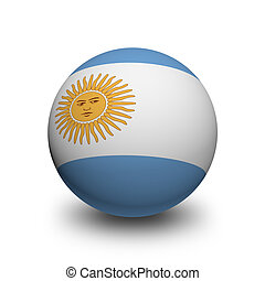 3D Ball with Flag of Argentina