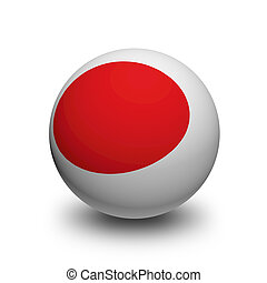 3D Ball with Flag of Japan