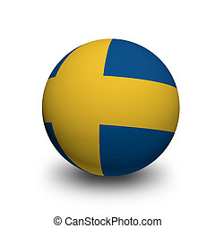 3D Ball with Flag of Sweden