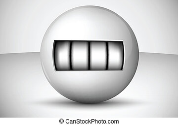 Ball with numbers, counter