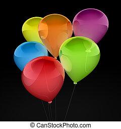 3d ballon colorful - 3d, ballon, balloon, party, birthday,...