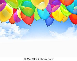 3d ballons - 3d image of flying ballons