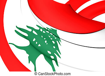 3d, bandeira, de, a, lebanon., 3d, illustration.