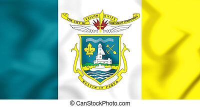 3d, bandeira, de, yellowknife, canada.
