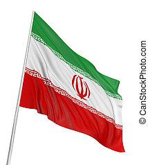 3d, bandeira iraniana