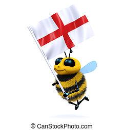 3d, bandera, george de st, abeja