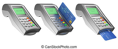 3D Bank terminal - 3d Bank terminal with credit card....