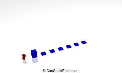 3D Bar Graph Animation