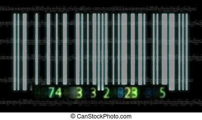 3d, barcode, animation