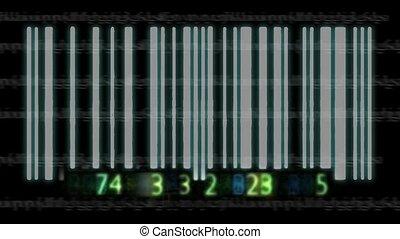 3d, barcode, animazione
