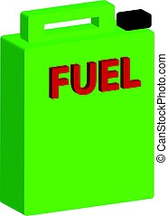 3D barrel of fuel on white background.