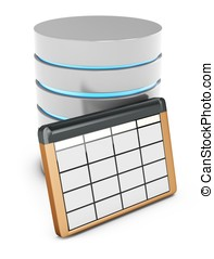 3d, base de datos, tabla