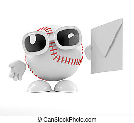 3d Baseball gets mail