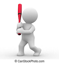 3d baseball human