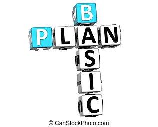 3D Basic Plan Crossword