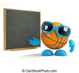3d Basketball at the blackboard